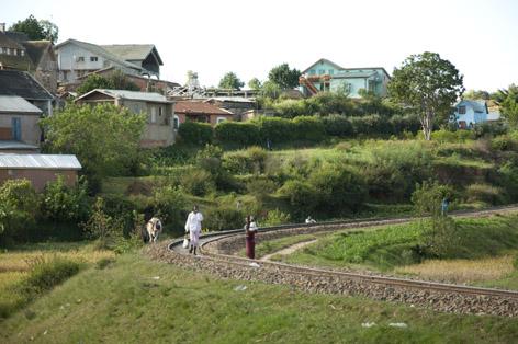 Järnväg i Madagaskar.