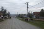 Byn Viscri i Rumänien.