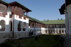 Klostret Agapia i Moldova, rumänska Moldavien.