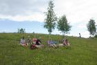 Lunchstopp utanför Botiza, Rumänien.