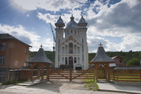 Den nyaste grekisk-ortodoxa kyrkan i Ieud, Rumänien.