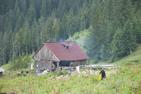 Mellan skidliften i Borsa, Rumänien, och Hästskovattenfallet.
